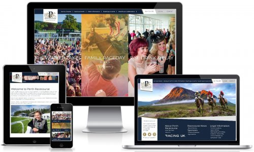 2018 Perth Racecourse Website across devices
