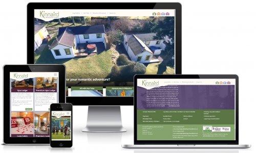 Kinnaird Woodland Lodges Website Multiview
